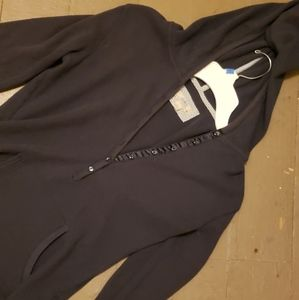 Blue Thermal Hooded Long Sleeve Henley Large